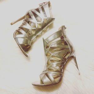 Zara Silver High Heels